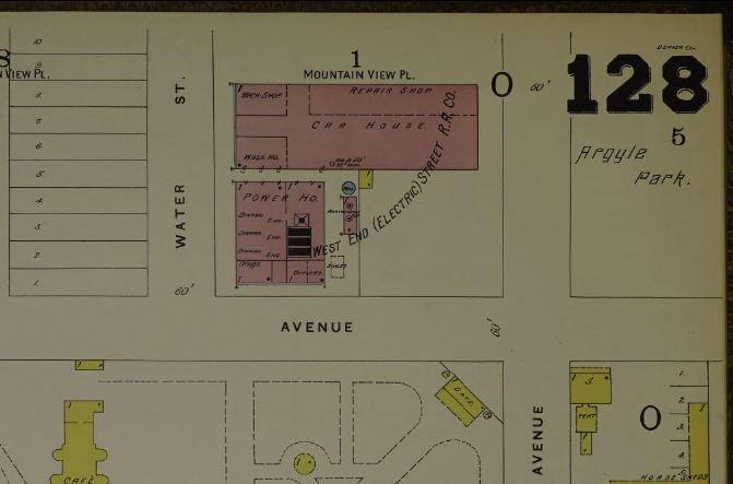 West End Dynamo House (1893 Sanborn Map)